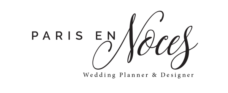 Logo Paris en Noces. Jour J. Paris en Noces. Wedding Planner en Ile de France
