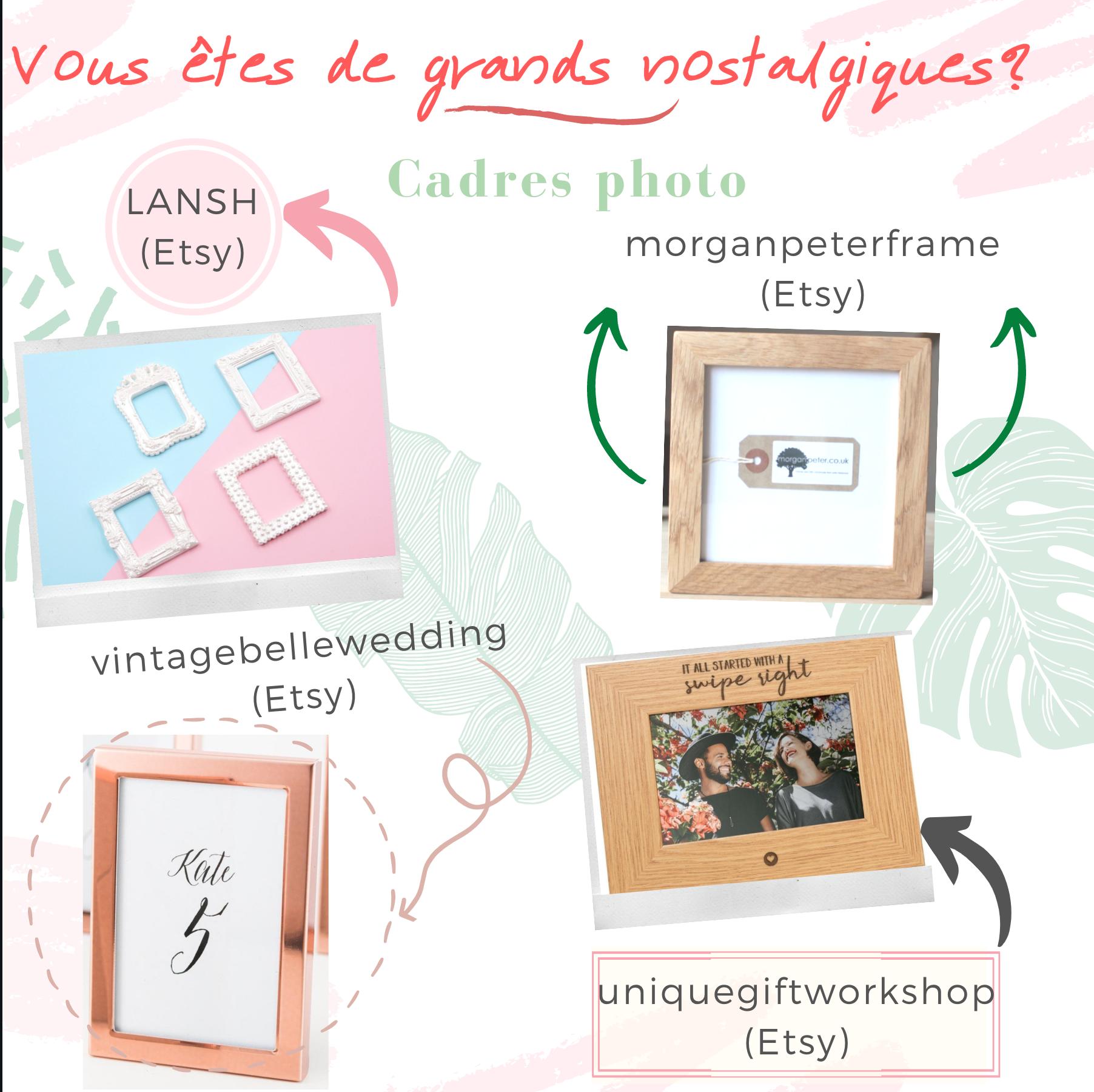 Cadres photos. Idées de cadeaux invités. Paris en Noces Wedding planner en ile de france.