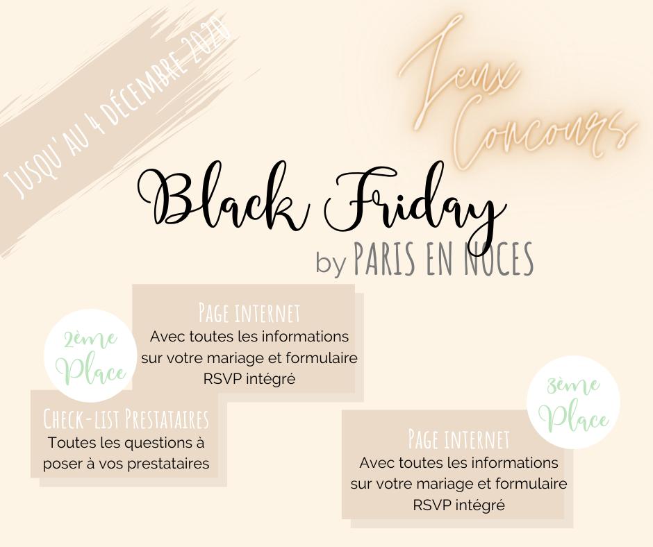 Black friday by paris en Noces. Wedding planner en ile de france