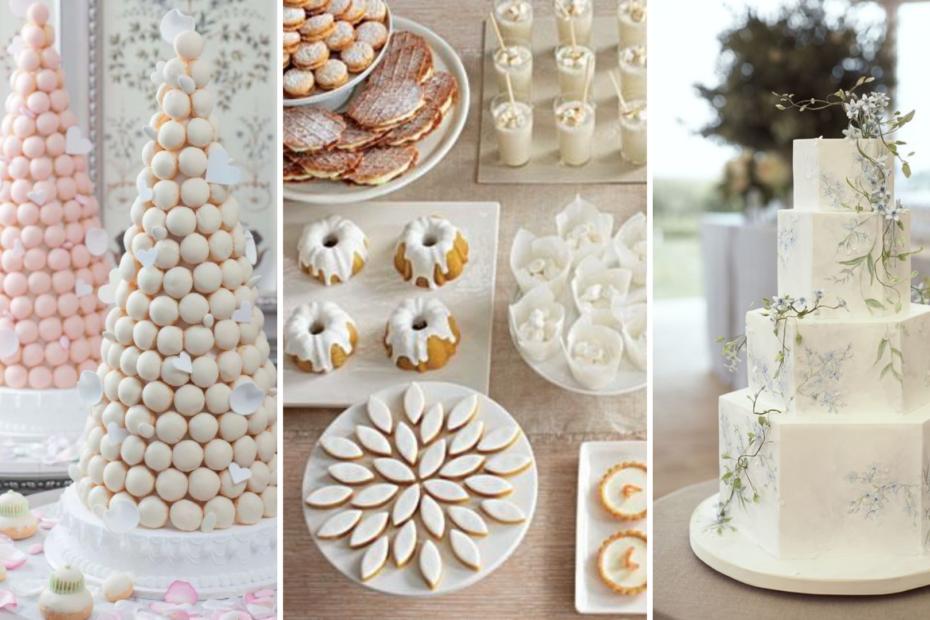 Dessert de mariage. wedding cake, croquembouche pièce montée, buffet de desserts. Wedding planner en Ile de France. Paris en Noces